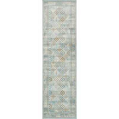 Jayleen Blue Area Rug Rug Size: Rectangle 3 x 10