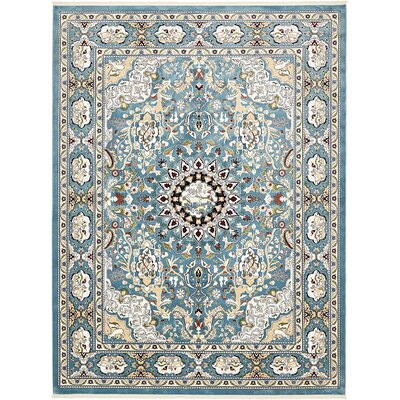 Courtright Blue/Tan Area Rug Rug Size: Rectangle 13 x 198