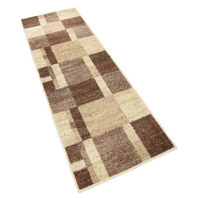 Bryan Light Brown Geometric Area Rug Rug Size: Rectangle 9 x 12