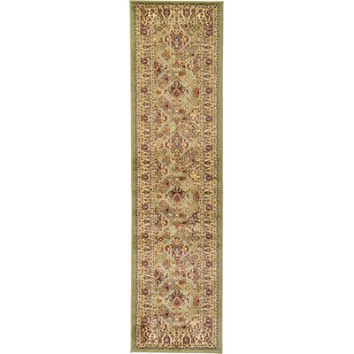 Fairmount Light Green Area Rug Rug Size: Runner 27 x 10