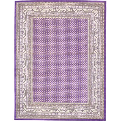 Toni Violet Area Rug Rug Size: Rectangle 9 x 12