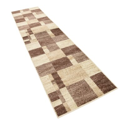Bryan Light Brown Geometric Area Rug Rug Size: Runner 2 x 6