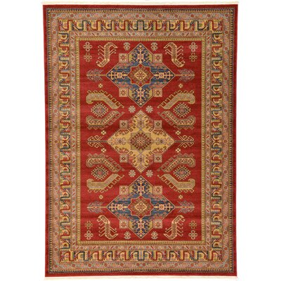Valley Red Area Rug Rug Size: Rectangle 7 x 10