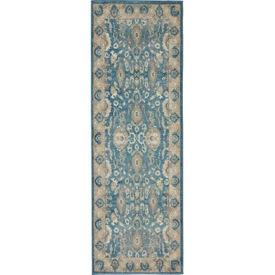 Jaiden Blue / Brown Area Rug Rug Size: Runner 2 x 6