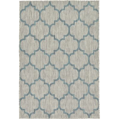 Hannah Gray Outdoor Area Rug Rug Size: 4' x 6'