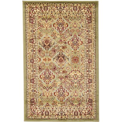 Fairmount Light Green Area Rug Rug Size: Round 6