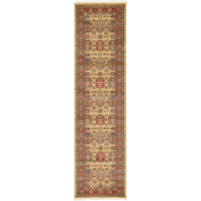 Valley Beige Area Rug Rug Size: Runner 27 x 10
