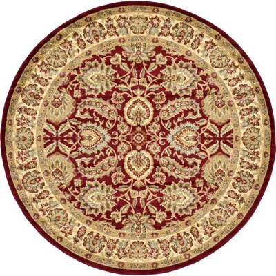 Fairmount Traditional Red Oriental Area Rug Rug Size: Round 8