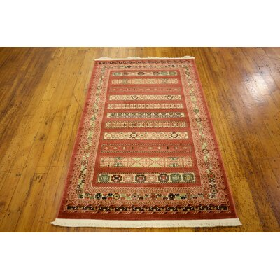Foret Noire Rust Red Area Rug Rug Size: Square 6'