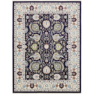 Courtright Navy Blue/Tan Area Rug Rug Size: 10 x 13