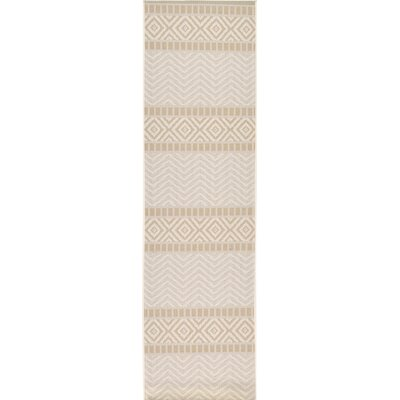 Cheridon Beige Indoor/Outdoor Area Rug Rug Size: Runner 24 x 82