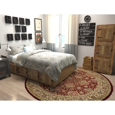 Fairmount Red Area Rug Rug Size: Round 8