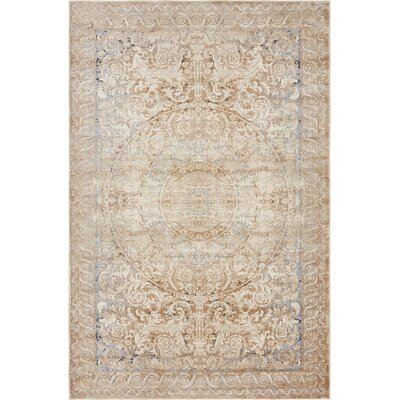 Abbeville Beige Area Rug Rug Size: 4 x 6