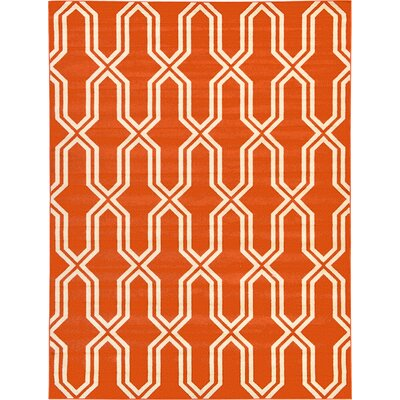 Marika Rust Red Area Rug Rug Size: 9 x 12