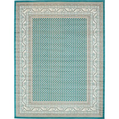 Gillam Teal Area Rug Rug Size: Rectangle 9 x 12