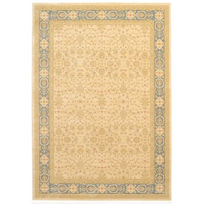 Jamar Traditional Cream Area Rug Rug Size: 7 x 10