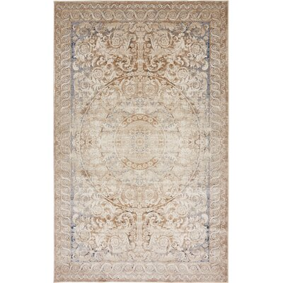 Abbeville Beige Area Rug Rug Size: Rectangle 5 x 8