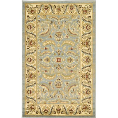 Fairmount Yellow/Blue Area Rug Rug Size: Rectangle 33 x 53