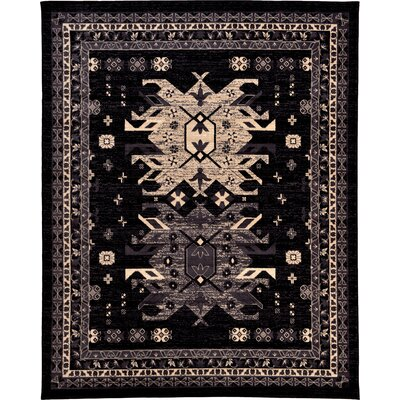 Valley Black Area Rug Rug Size: 8 x 10