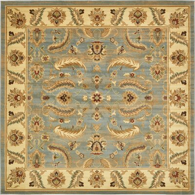 Fairmount Yellow/Blue Area Rug Rug Size: Square 10