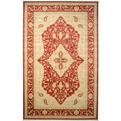 Willow Red Area Rug Rug Size: 106 x 165