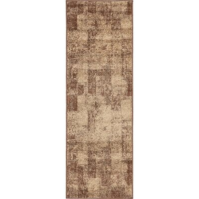 Weese Brown Area Rug Rug Size: Runner 2 x 6