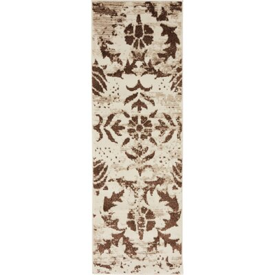 Matis Chocolate Brown/Beige Area Rug Rug Size: 2 x 6