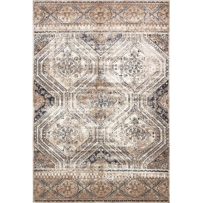 Abbeville Beige/Blue Area Rug Rug Size: Rectangle 10 x 145