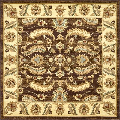 Fairmount Oriental Brown Area Rug Rug Size: Square 8