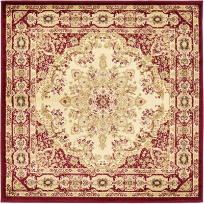 Anzac Cream Area Rug Rug Size: Square 4