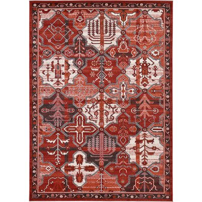 Irma Terracotta Area Rug Rug Size: Rectangle 7 x 10