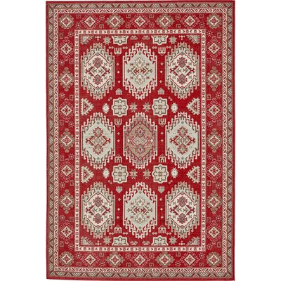 Gillam Red Area Rug Rug Size: 4 x 6