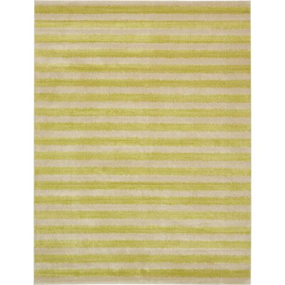 Terrie Light Green Area Rug Rug Size: 10 x 13
