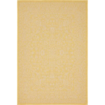 Arbor Glen Yellow Outdoor Area Rug Rug Size: Rectangle 4 x 6