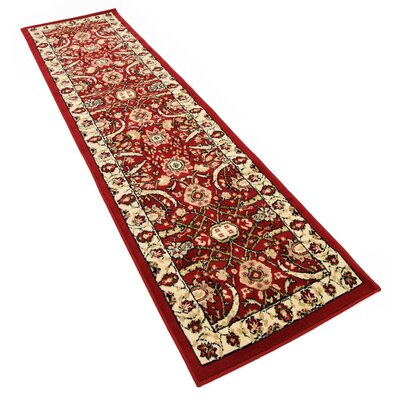 Britannia Red Area Rug Rug Size: Runner 2'7