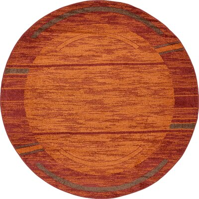 Bryan Stain-resistant Terracotta Tibetan Area Rug Rug Size: Rectangle 9 x 12