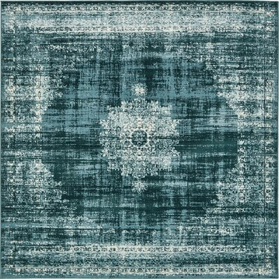 Miara Dark Blue Area Rug Rug Size: Square 6