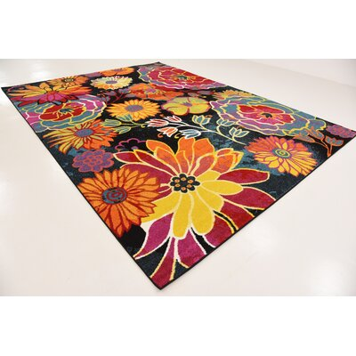 Clarke Black Area Rug Rug Size: Rectangle 9 x 12
