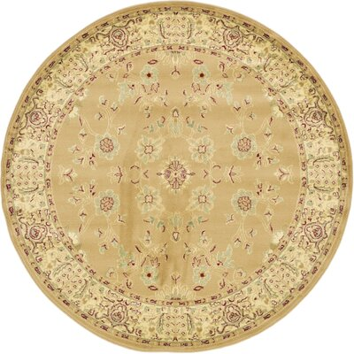 Niles Tan Area Rug Rug Size: Round 8
