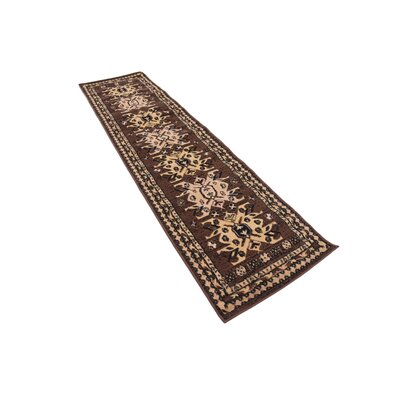 Valley Brown Area Rug Rug Size: Runner 2 x 8