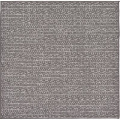 Madeline Gray Outdoor Area Rug Rug Size: Square 6