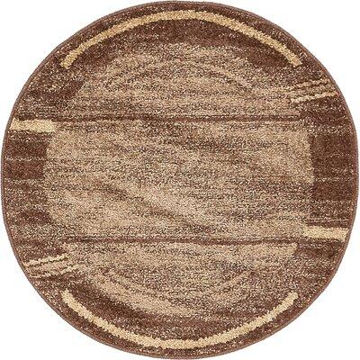 Christie Brown Area Rug Rug Size: Round 33
