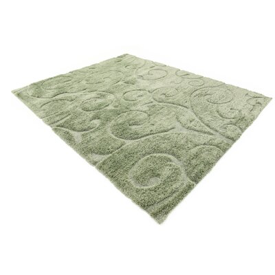 Archer Lane Floral Green Area Rug Rug Size: 9 x 12