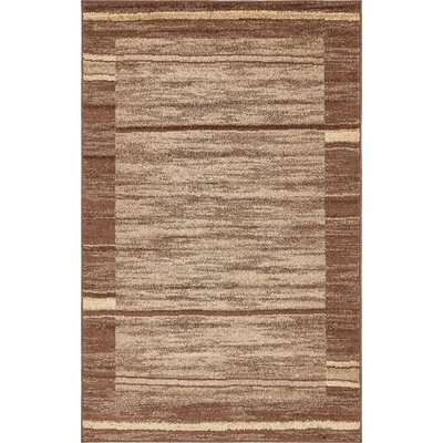 Bryan Stain-resistant Brown Area Rug Rug Size: Rectangle 5 x 8
