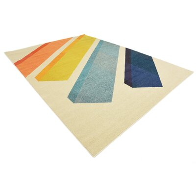 Fujii Beige Area Rug Rug Size: Rectangle 5 x 8