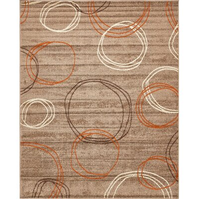 Bryan Light Brown Area Rug Rug Size: 8 x 10