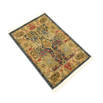 Lerma Gray/Brown Area Rug Rug Size: 5 x 8