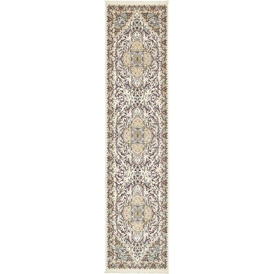 Anita Ivory Area Rug Rug Size: Runner 3 x 13