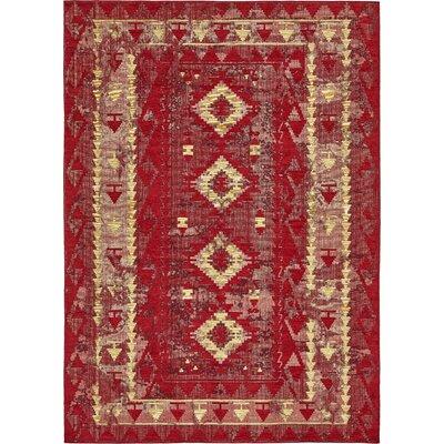 Bhakta Red Area Rug Rug Size: 910 x 13