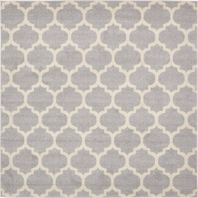 Moore Gray Area Rug Rug Size: Square 8